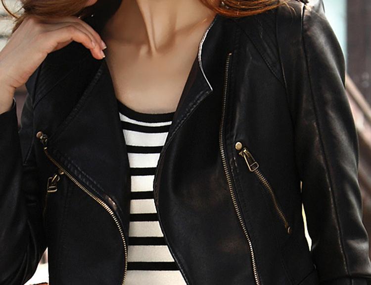 2015-nueva-Casual-camello-negro-chaqueta-De-cuero-corta-mujer-PU-Biker-chaquetas-tallas-grandes-moda